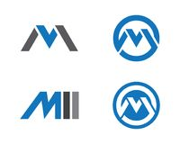 Logo de lettre de M Photographie stock