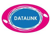 Logo de liaison de transmission de données Photographie stock libre de droits