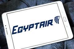 Logo de lignes aériennes d'EgyptAir Photos stock