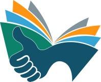 Logo de livre de main Photo libre de droits