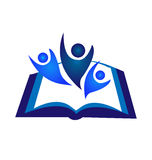 Logo de livre de travail d'équipe Photos stock