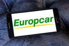 Logo de location de voiture d'Europcar Images stock