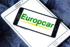 Logo de location de voiture d'Europcar Photos libres de droits