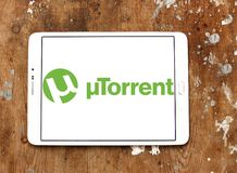 Logo de logiciel d'UTorrent Photos stock