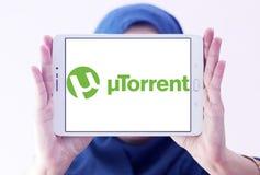 Logo de logiciel d'UTorrent Images stock