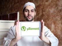 Logo de logiciel d'UTorrent Image stock