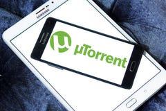Logo de logiciel d'UTorrent Photographie stock