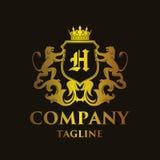 Logo de luxe de ` du ` H de lettre illustration libre de droits