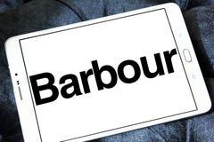 Logo de luxe de marque de mode de Barbour Image stock