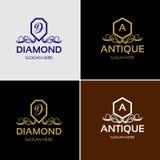 Logo de luxe royal de crête illustration stock