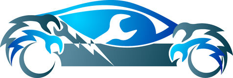Logo de mécanicien d'automobile illustration stock