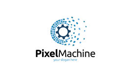 Logo de machine de pixel Illustration Libre de Droits