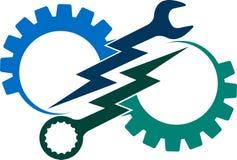 Logo de machine-outil Photos libres de droits