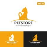 Logo de magasin d'animal familier/affaires Logo Idea de conception vecteur d'icône Image libre de droits
