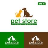 Logo de magasin d'animal familier/affaires Logo Idea de conception vecteur d'icône Images stock