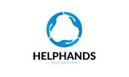 Logo de main d'aide Photo stock