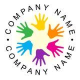 Logo de main d'unité d'arc-en-ciel Photos libres de droits