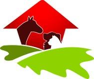 Logo de maison d'animal familier Image stock