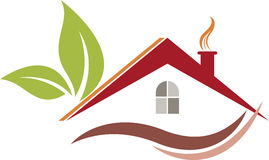 Logo de maison d'Eco Image stock
