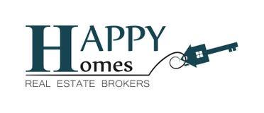 Logo de maison d'immobiliers (2) images libres de droits