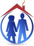 Logo de maison de couples Photographie stock