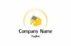 Logo de maison solaire Images libres de droits