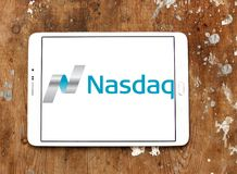Logo de marché boursier de Nasdaq Photos libres de droits
