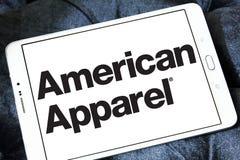 Logo de marque d'habillement d'American Apparel Photos libres de droits