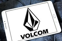 Logo de marque d'habillement de Volcom Image libre de droits