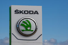 Logo de marque de Skoda image stock