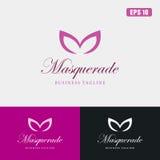 Logo de mascarade/affaires Logo Idea de conception vecteur d'icône images stock