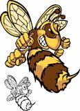 Logo de mascotte d'abeille de combat Photo libre de droits
