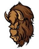 Logo de mascotte de dessin animé de Buffalo Photo libre de droits
