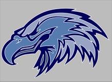 Logo de mascotte de tête d'aigle de vecteur Image stock