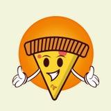 Logo de mascotte de pizza images stock