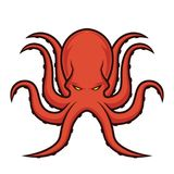 Logo de mascotte de poulpe Image stock