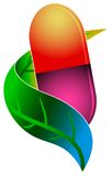 Logo de médecine de fines herbes Photographie stock