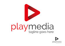 Logo de media de jeu Photographie stock libre de droits