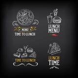 Logo de menu de déjeuner et conception d'insigne Vecteur avec le graphique illustration de vecteur