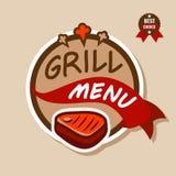 Logo 2 de menu de gril Photos libres de droits