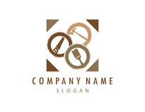Logo 2 de menuiserie Photographie stock libre de droits