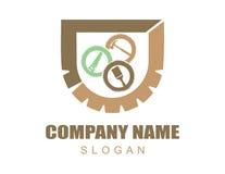 Logo 2 de menuiserie Photo libre de droits