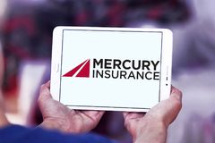 Logo de Mercury Insurance Group Photographie stock