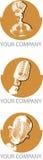 Logo de microphones Images libres de droits