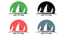 Logo de montagne Photographie stock libre de droits