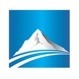 Logo de montagne et de route Photos stock