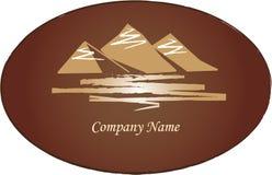Logo de montagnes Photos stock