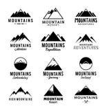 Logo de montagnes de vecteur Images libres de droits
