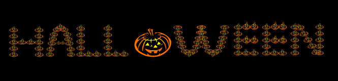 Logo de mot de Halloween Photographie stock libre de droits