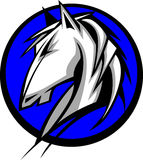 Logo de mustang/mascotte de Bronco illustration de vecteur